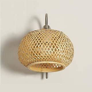 SMLZV UK Simple Modern Japanese Bedside lamp Bamboo Art Knitting Shade Living Room Aisle Balcony lamp Bedroom Chinese Wall lamp