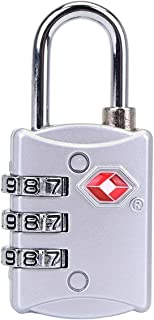TSA Zinc Alloy Mini Luggage Lock with 3 Digit Password for Backpack Gym Bag School Locker Travel Baggage Suitcase Small Lo...
