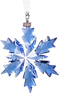 XIANGBAN 2019 Snow and Ice Elf Pendant, Crystal Christmas Ornaments Blue