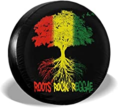 ZBGIGB Endless Summer of Roots Reggae! Cars Spare Tire Cover Cutomobile Tire Cover Tire Size 14