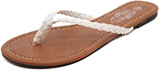 Women's Easy Braided Thong Flip Flop Sandal - Braided Sandals for Women