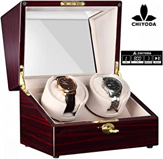 Automatic Double Watch Winder with Two Quiet Mabuchi Motors, LCD Touch Control