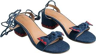 Chumbak Flashback Filter Blue Heel Sandals
