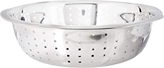 Winco Chinese Colander with 5mm Holes, 13-Inch, Stainless Steel