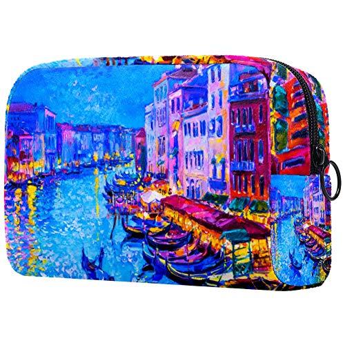 Gondola - Bolsa de maquillaje para barcos y Venecia, nailon resistente al agua