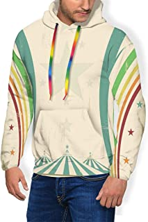 Men's Hoodie Thicken Fluff Sweatshirt,Old Style Freehand Drawing of A Single Colossal Dahlia Blossom Petals and Leaves