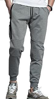 Gopune Men's Elastic Cuffed Casual Drawstring Training Jogger Athletic Pants Sweatpants