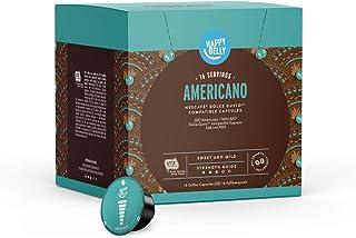 Amazon Brand - Happy Belly, Americano koffiepads compatibel met NESCAFÉ DOLCE GUSTO, 3x16 capsules (48 porties)