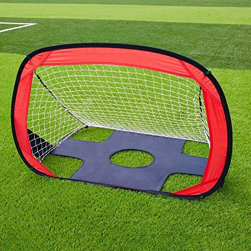 SKL Football Goal For Children 2-in-1 Foldable and Portable Soccer Net Goal Set Quick Up Goal Pop Up Soccer Goal for kids (43.3' L X 31.5' W)