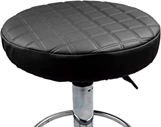 BEOTARU 2 Pack Waterproof Leather Stool Cover Washable Seat Cushions Slipcovers Anti-Slip Furniture Protector for Pub