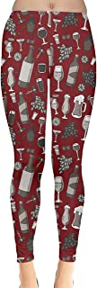 Womens Wine Glasses Beer Cocktail Alcohol Spirits Whisky Drinks Celebration Party Leggings, XS-5XL