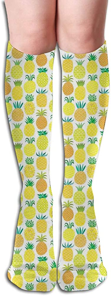 Men's and Women's Funny Casual Combed Cotton Socks,Fresh and Sweet Hawaiian Fruits in Artful Shapes Organic Garden in Summer Season