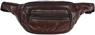 Genuine Leather Lambskin Waist Bag Fanny Pack, The Perfect to-Go Travel Bag for Men and Women of All Ages, Brown