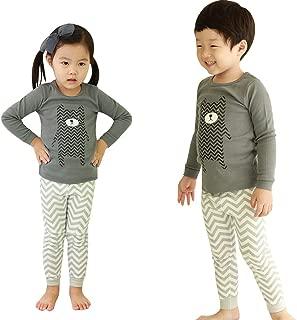 OllCHAENGi Toddler Babys Kids Boys Girls 100% Cotton Pajama Set Pjs, Long Sleeve 3T-12Y
