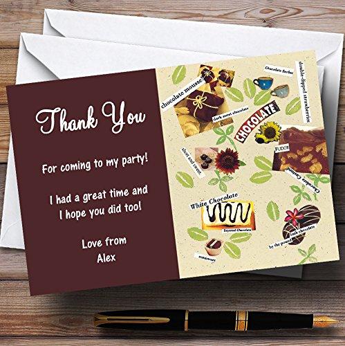 Party Thank You Kaarten Heerlijke Chocolade Gepersonaliseerde Partij met Enveloppen - Elke Aangepaste tekst voor elke gelegenheid 80 Cards & Envelopes