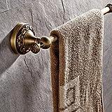 Casewind - Toallero de color bronce hecho de latón de calidad, estilo antiguo...