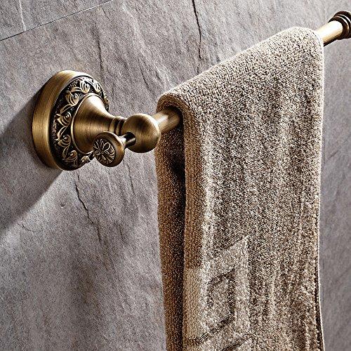 Casewind - Toallero de color bronce hecho de latón de calidad, estilo antiguo con motivos de olas ideal para cuarto de baño, aseo o cocina, de 62,48 cm