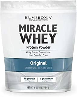 Dr. Mercola, Miracle Whey Original Protein, 1 lb (454 g), BCAA, Natural Sweeteners Only, Non GMO, Soy Free, Gluten Free, Non GMO, Soy-Free, Gluten Free