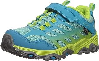 Merrell Kids' Unisex M-Moab Fst Low A/C Wtrpf Hiking Shoe, Turq/Lime, 05.5 M US Big Kid