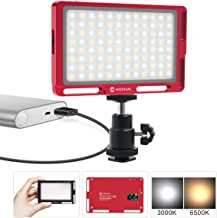 Moman LED Video Light for DSLR Camera Portrait, CRI 96 Bi-Color 3000K-6500K Brightness Dimmable, with OLED Display, Aluminum