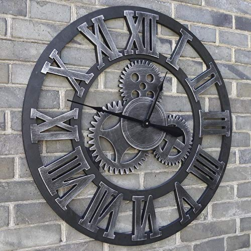 Wandklok Iron art woonkamer Retro 80CM diameter wandklok