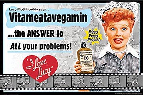Buyartforless The I Love Lucy Show - Vitameatavegamin 36x24 Classic TV Art Print Poster