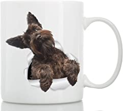 Cute Brown Schnauzer Mug - Ceramic Schnauzer Coffee Mug - Perfect Schnauzer Gifts - Funny Cute Schnauzer Dog Mug for Dog Lovers and Owners (11oz)
