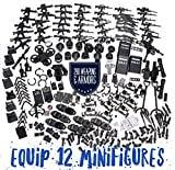 inFUNity Swat Police Minifigures Armor and Weapons Guns Accessories Pack (290 PCS) Fit 12 Minifigures Distinct Outfits