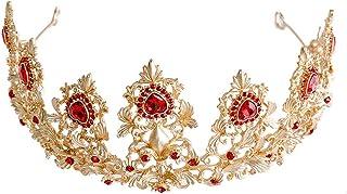 RKY Parte superiore delle ragazze, bambini fascia Crystal Crown copricapo principessa Girl Corona Corona Red Girl tornante...