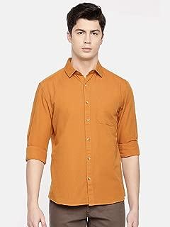 Chennis Mens Causal Shirt(Rust)