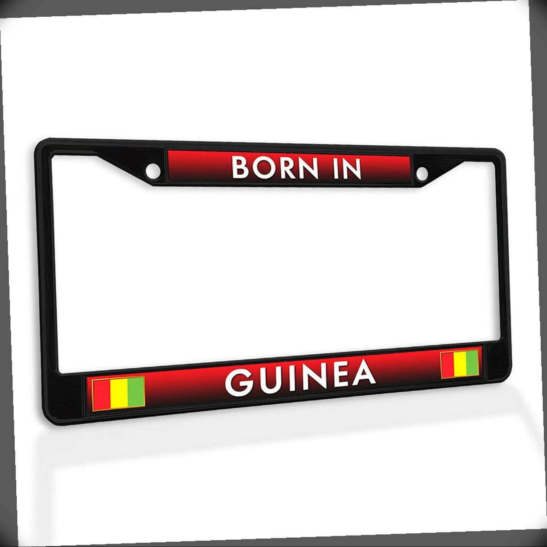 New License Plate Frame Born in Metal Insert Ta Max 60% OFF Car Brand Cheap Sale Venue Guinea