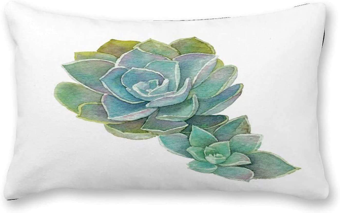 Courier shipping free shipping by Unbranded Canvas Pillowcase Green Succulent Elegant Plant Cactus 12×2