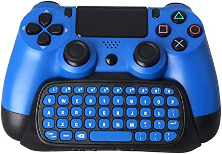 Maexus PS4 Controller Keyboard, Mini Wireless Type Pad Chat Pad Message Keyboard with Built-in Speaker, 3.5mm Jack and Charging port for PlayStation 4 Controller