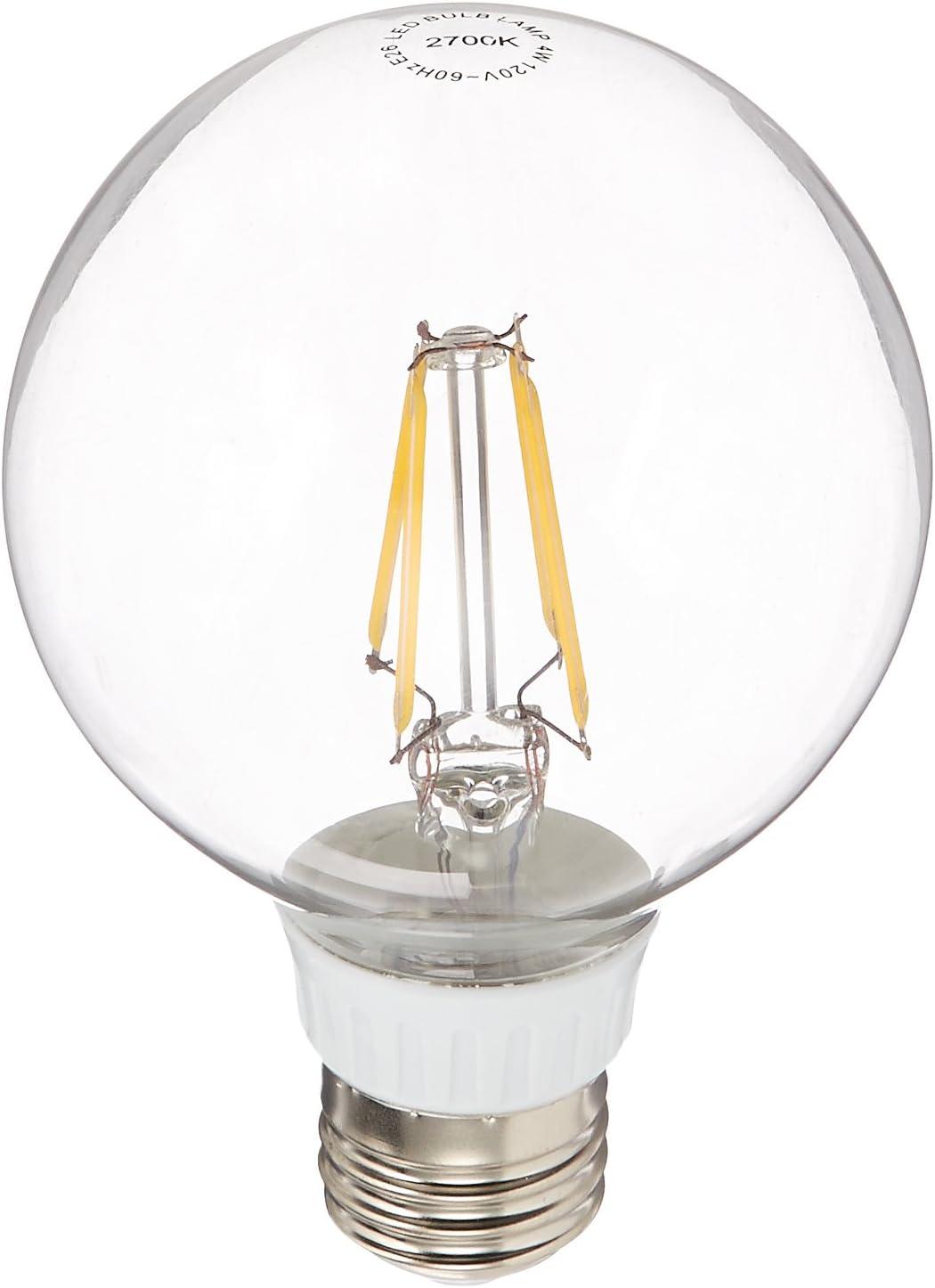 LED2020 ZL-G25-4W-27K-15PACK 期間限定 Traditional Filament スーパーSALE セール期間限定 LED Gl