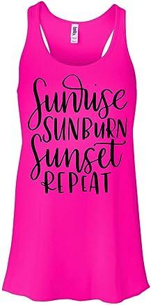 96cf50ed3904a1 Sunrise Sunburn Sunset Repeat Tank Top