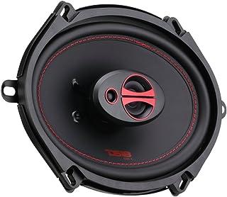 DS18 GEN-X5.7 Coaxial Speaker - 5x7, 3-Way, 165W Max, 50W RMS, Black Paper Cone, Two Mylar Dome Tweeters, 4 Ohms - Clarity...