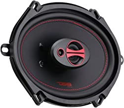 DS18 GEN-X5.7 Coaxial Speaker - 5x7, 3-Way, 165W Max, 50W RMS, Black Paper Cone, Two Mylar Dome Tweeters, 4 Ohms - Clarity Unparalled by Other Speakers in Their Class (2 Speakers)