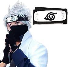 Atenia Naruto Cosplay Headband, Naruto Costume Leaf Village Ninja Headband Kakashi Cosplay