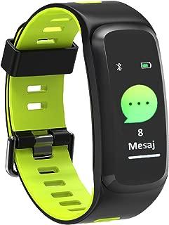 APPSCOMM A10 Sağlık, Spor Ve Dış Ortam Profesyonel Sporcu Bilekliği, Bluetooth, Siyah/Yeşil