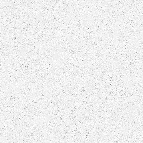 """Manhattan comfort NW48904 Sophia Series Vinyl Textured and Paintable Design Large Wallpaper Roll, 21"""" W x 33' L, White"""