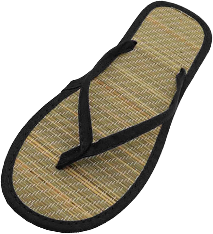 Womens Bamboo Rattan Flip Flops Non Slip Men Casual Beach Thong