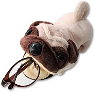 Terra Distribution Eyeglass Holder Stand, Dog Plush [Japan Import] Cute Funny Unique Design Animal Eyeglass Stands for Wom...