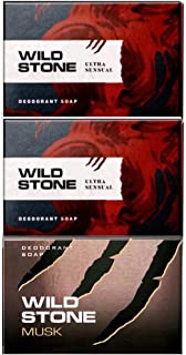 Wild Stone 2 Ultra Sensual Soap 125GM and 1 Musk Soap 125GM