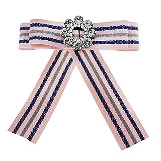 CBCJU Accesorios de Moda Arco de Flores Broche de Cinta de Cristal 11 * 11cm