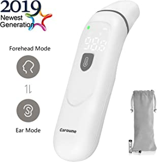 【Upgraded】Caroune Forehead and Ear Thermometer, Medical Digital Infrared Temporal Thermometer for Fever, Instant Accurate Reading for Baby Kids and Adults