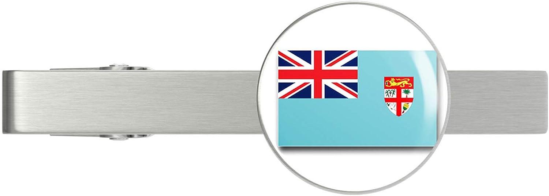HOF Trading Fiji Flag Military Veteran Dedication Ti Tie Served Super intense SALE Clip Silver