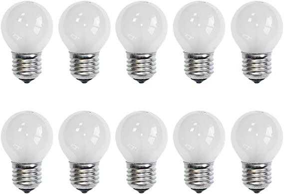 10 X Light Bulbs 40 W E27 Matt 2700 K Warm White Dimmable 40 Watt Beleuchtung