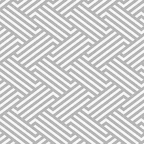 Papel de Parede, Geométrico com Relevo, Cinza, 1000x52 cm, Bobinex Uau