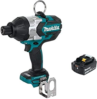 Makita XWT09Z 18V LXT Lithium-Ion Brushless Cordless High Torque 7/16-Inch Hex Impact Wrench & BL1840B 18V LXT Lithium-Ion 4.0Ah Battery