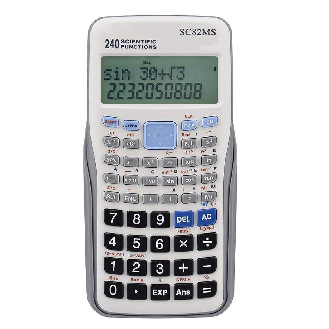 却下するバイアスアリ電卓 学生科学関数計算機テスト二重線統計変数生徒電卓 準関数電卓スクールオフィス